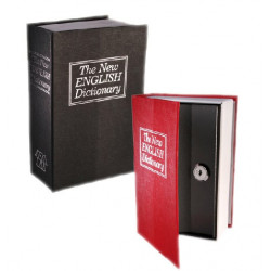 Caja de Caudales Camuflada en Libro Diccionario Negro