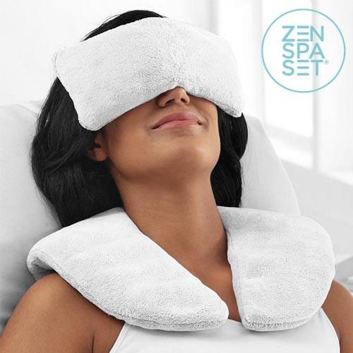 Set Zen Spa (Cojín + Almohadillas Relajantes) | Frío y Calor