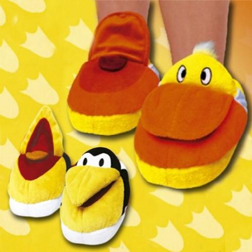 Pantuflas Animales de Peluche M Pingüino