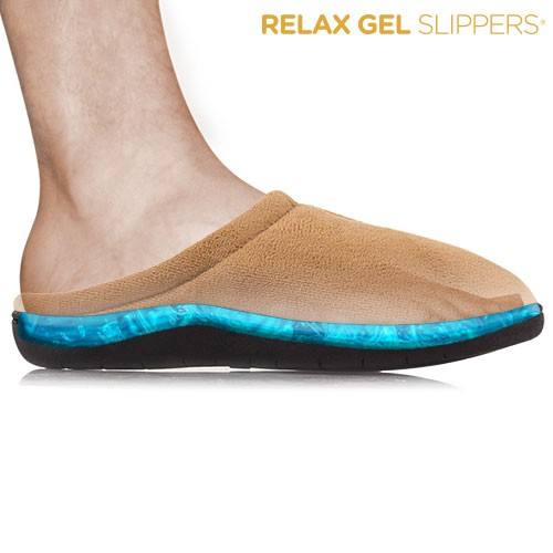 Zapatillas Relax Gel Slippers Marrón L