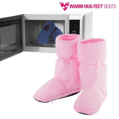 Botas Calentables Microondas Warm Hug Feet Rosa L