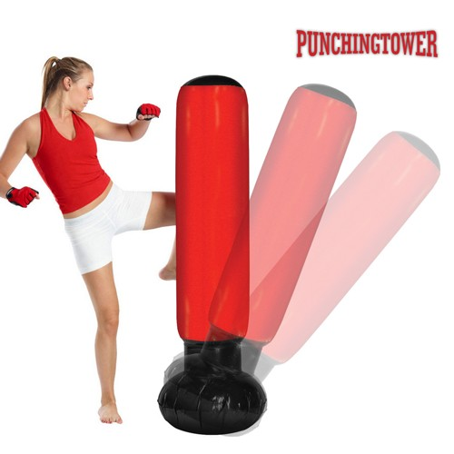 Saco de Boxeo de Pie Punching Tower