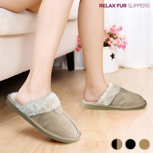 Zapatillas de Casa Relax Fur Negro 41