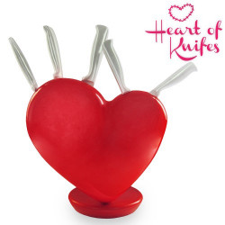 Juego de Cuchillos Soporte Corazón Heart of Knifes
