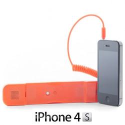 Auricular Antiradiación compatible con iPhone Naranja