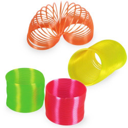 Espiral de Plástico Neón Naranja