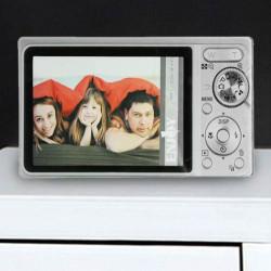 Portafotos de Vidrio Cámara de Fotos Gris