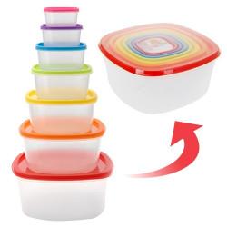 Fiambreras Tapas Colores (7 piezas)