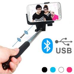 Monopié Bluetooth para Selfies Rosa