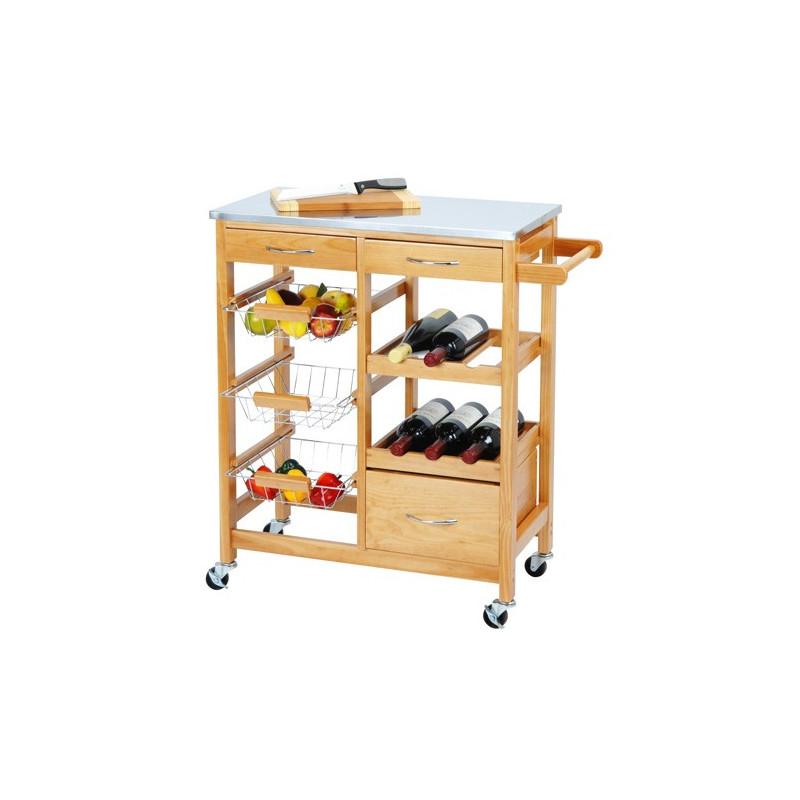 Comprar online carrito de cocina de madera - Carrito para cocina ...