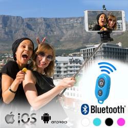 Monopié para Selfies con Mando Bluetooth Azul