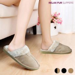 Zapatillas de Casa Relax Fur Negro 36