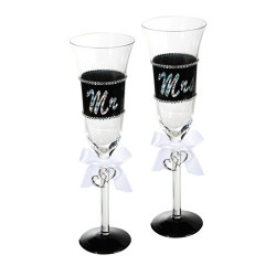 Copas de Champagne Mr & Mrs