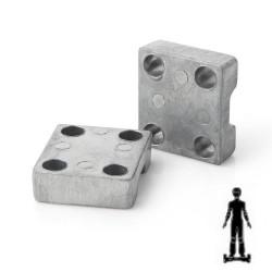 Mordaza aluminio para motor patinete hoverboard